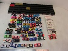 HUGE LOT OF 55 RACING CHAMPIONS 1/64 DIECAST CARS DISPLAYS CARDS VINTAGE