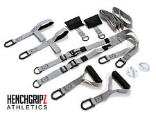 HENCHGRIPZ Suspension Resistance Trainer Straps Workout Strength Fitness Gym
