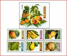 TOG9606 Southern fruits 6 stamps and block