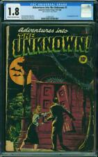 Adventures into the Unknown #1 CGC 1.8 American 1948 Horror Classic! L10 212 cm