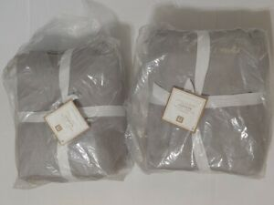 Pottery Barn Teen Ultimate Organic Blanket Twin Light Gray Set of 2 New w Flaws