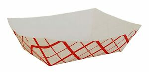 Southern Champion Tray 0425 #300 Paperboard Red Check Food Tray, 3 lb 500/CS