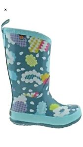 K WELLY CLOUDS KIDS BOGS UK 10 New No Box Bargain.