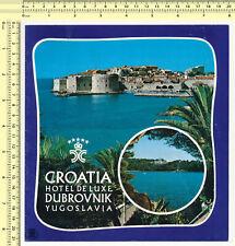 033 Croatia Hotel De Luxe Dubrovnik Yugoslavia vintage brochure, old prospect