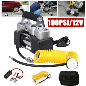 12V Luftpumpe Auto Reifen Druckluft Doppelzylinder Kompressor Elektrische pumpe