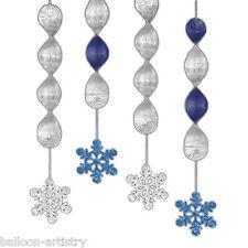 """4 Natale Festa 18 """"spumanti PRISMATICO Snowflake PENZOLONI ritaglio DECORAZIONI"""