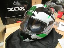 ZOX MOTORCYCLE MOTOCROSS ATV SNOWMOBILE SCOOTER HELMET - FULLFACE GALAXY LAR GRN