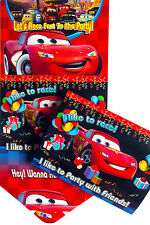 DISNEY CARS BIRTHDAY PARTY INVITATIONS - PARTY ITEMS PACK OF 10