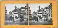 París Estatua De'Etienne Dolet Foto Pl36 Estéreo Vintage Analógica c1900