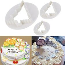 3Pcs Christmas Tree Cake Decorating Paste Cookie Mold Plunger Cutter DIY #A