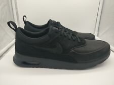 Nike Womens Sz 8 Air Max 90 Prem Black Metallic Silver Shoes 443817 002