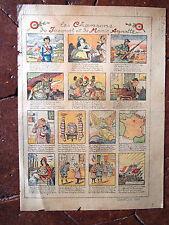 """GUERRE 14/18 Affiche Ancienne """" les chansons """" """" par lucien Métivet"""