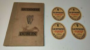 Vintage Guinness Dublin Book and Guinness Beer Bottle Labels x 4
