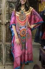 Boho Hippy Chic Pink Kaftan Jewel Print Beachwear Resort Bikini Coverup 3X