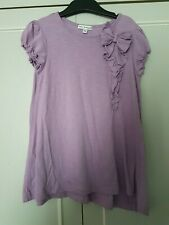 GORGEOUS GIRLS M&S AUTOGRAPH LILAC T-SHIRT WITH BOW. AGE 6-7. GREAT CONDITION!