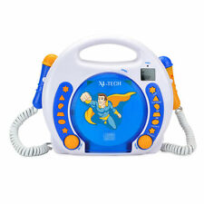 Bobby Joey CD-Player für Kinder mit 2 Mikrofonen zum Mitsingen MP3, SD, USB Blau