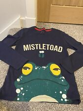 Mini Boden Boys Christmas Tops - Mistletoad - Sz 9 - 10 Years
