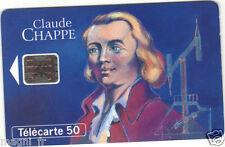 Télécarte - Les grandes figures des télécommunications - Claude CHAPPE (A2944)