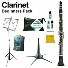 More details for clarinet beginners pack - inc case, care kit, stands and more