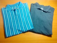 Harbor Bay Polo Shirts Size XLT Lot of 2 Solid Striped Short Sleeve Cotton Men's
