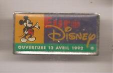 Pin's pin EURO DISNEY OUVERTURE LE 12 AVRIL 1992 (ref L27)