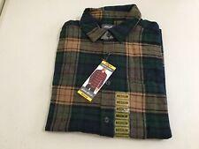 NWT Eddie Bauer Men Long Sleeve Bristol Flannel Shirt MSRP $59 SZ M