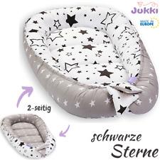 Baby Nestchen Kokon Babynest Kuschelnest Reisebett 2-seitig ★ Baumwolle ★ STERNE
