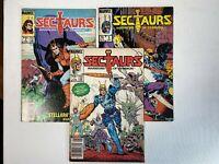 Sectaurs lot of 3 Comics: 1, 4, 5 Marvel 1986