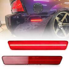 2Pcs Rear Red Led Bumper Side Marker Light for 1999-2004 Ford Mustang Red Lens