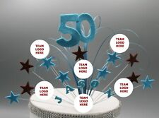 West Ham Football Birthday Cake Topper Any Age Colours Stars on Wires 003
