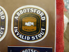 VINTAGE AUS BEER LABEL. CARLTON & UNITED - ABBOTSFORD INVALID STOUT 375ML 56IS
