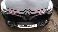 Renault Clio 4 2013-2016 GLOSS BLACK FRONT BADGE EMBLEM COVER ALL MODELS INC 220