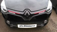 Renault Clio 4 2013-2016 GLOSS BLACK FRONT BADGE EMBLEM COVER ALL MODELS INC 220