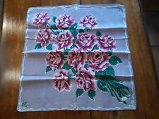 "Vintage Ladies Handkerchief ""A Burmel Original"" Label; Light Purple Bkgd"