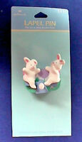 Hallmark PIN Easter Vintage WIND UP BUNNY RABBIT SeeSaw ACTION Holiday NEW*