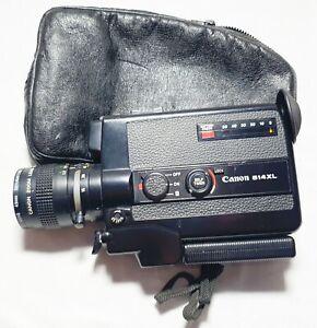 Vintage CANON 514XL Super 8 movie film camera 1975 zoom lens C8 9-45mm in case