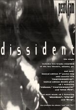 """NEWSPAPER CLIPPING/ADVERT 21/5/94PGN30 10X7"""" PEARL JAM : DISSIDENT"""