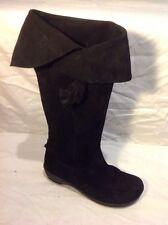 Jones Boot Maker Black Knee High Suede Boots Size 38