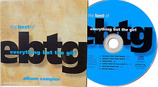 EVERYTHING BUT THE GIRL CD Best Of UK PROMO ONLY SAMPLER Missing Drivin Unplayed