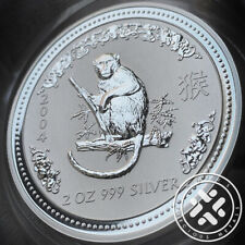 2004 Australia Lunar Year of the Monkey 2 oz. Silver Coin Series I w/capsule