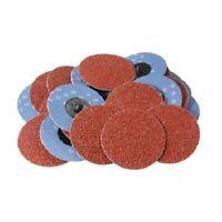 "25PC 3"" 36grit Roloc Aluminum Oxide Roll Lock Sanding Disc"