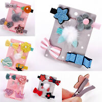 5Pcs/set Baby Kids Girls Hair Clip Hairpins Set Cute Hair Clip For Kids Surprise