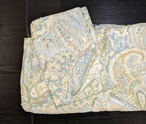 Pottery Barn Full Queen Duvet Cover & 1 Standard Sham SIENNA Blue Green Paisley