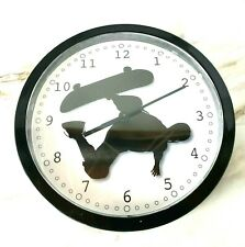 Rare and Working Cafe Press Quartz Wall Clock - Design Skateboard Skater