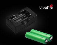 2x Sony Konion Akku US 18650 VTC5 3,7V 2100mAh inkl. Ultrafire Compact Ladegerät