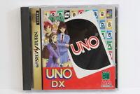UNO DX W/ Spine Reg Card Bonus CD Sega Saturn SS Japan Import US Seller G8046
