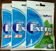 3x Packs Wrigley's Extra Clean 60 PCS Pepperment Wrigleys Chewing Gum Sugar Free
