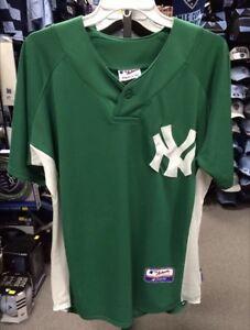 New York Yankees Green Jersey Majestic Cool Base