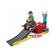 Kids Ride On Radio Flyer Push Car 6 ft Race Track Toddler Toys Play Ramp Racing