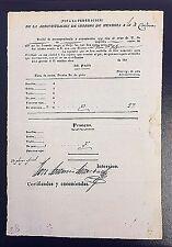 Viva La Confederacion 1839 Mendoza to Cordoba Postal Manifest w Details Signed